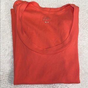 Loft swoop neck T-shirt coral color sz s